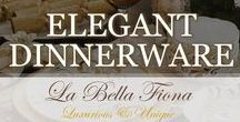 Elegant Dinnerware / Elegant dinnerware to bring fine dining into your home. Style luxurious table settings and tablescapes with these beautiful chargers, plates, bowls, serving trays, flatware and more. Add wonderful table accents to complete the look. Follow La Bella Fiona on Pinterest.