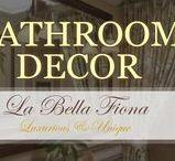 Bathroom Decor / A luxurious spa-like escape awaits. Find beautiful bathroom decor items and accents for your bathroom design. Follow La Bella FIona on Pinterest.
