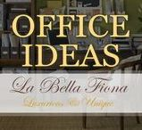 Office Ideas / Create a sophisticated and professional work space with our décor pieces and desk accents – elegant and practical design.  Shop some of these unique decor pieces at labellafiona.com