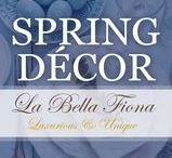 Spring Decorating Ideas / Spring Decorating ideas for around your home and table. From the first bloom to Easter and beyond these gorgeous accessories, table accents, and art pieces will brighten up your home after the frost. Visit labellafiona.com for more great decor pieces.