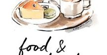 Food & Drink Illustration - Anna Ostapowicz / Watercolor illustration of food and drink, culinary recipes and delicious meals.