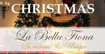 Christmas / Christmas is a special time to decorate your home in the season's joyous colors, lights, ad scents. Follow our board for every luxurious detail from the decor to the food for this favorite holiday. Visit labellafiona.com for great holiday decor.