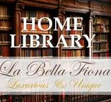 Home Libraries / Nothing quite says old-world like rows and rows of books, leather tufted arm chairs,  and little treasures placed about. Get inspired with some elegant ideas for your home library. See more at http://www.labellafiona.com/