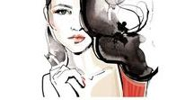 Portraits Illustration - Anna Ostapowicz / Watercolor portraits, famous people, actors, stars, creative women
