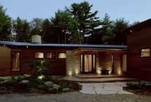 New England Lake House, 2003 / Single Family home in a quiet, wooded setting near Exeter, Rhode Island.