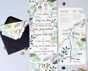 Hollyhock Lane Wedding Stationery / Wedding stationery and invitations by Hollyhock Lane