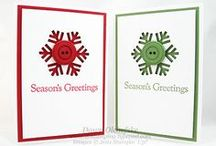 Cards - Christmas - Snowflakes - Die Cut & Embossing / by Kim Veevek