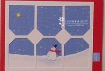 Cards - Christmas - Snowman - Dies & Embossing  / by Kim Veevek