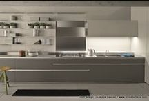 Linearity in the kitchen / Simplicity of design to make the most efficient use of the space available. Sometimes less is more.