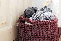crocheting and knitting