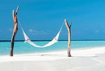White sands and blue waters