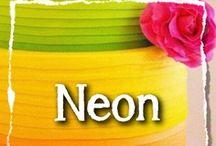 Neon kleuren / Neon kleuren, zijn een trend in de mode. Worden ze ook een trend bij bruiloften?