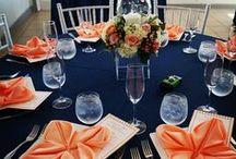 Navy Theme / Navy Theme Wedding Linens