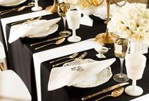 Black Classic Theme / All about black! Beautiful and elegant! Black creates a perfect accent for any colour including golds, silvers, and blues!