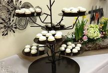 Dessert / Cake Displays / Cake, cupcakes, appetizers, hors d'oeuvres, and anything else you can think of these stands are perfect for your event!