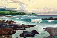 Hawaiian Art by Famous California Artists / Hawaiian art by famous California artists. Watercolor art from the late 1920's through today.