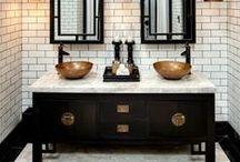 Modern Bathroom Decor / Whether you want a complete home spa, or a modest functional powder room, this modern bathroom decor is perfect in any space.