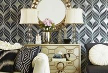 Trendy Black and Gold Mirrors / Love the sleek, stylish look of a gold and black mirror? Well you're in luck! We've put together our own assortment of black and gold mirrors for our customers to enjoy. Check out some of our favorites below!