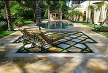 Patio & Pool Deck Ideas / Here is another project of a backyard pool area utilizing several intricate installation techniques.   Looking for a nice deck surrounding your pool? You've found the right place to look.