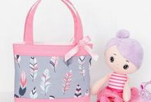 Little Girls Bags / Adorable handmade tote bags the perfect size for preschoolers.