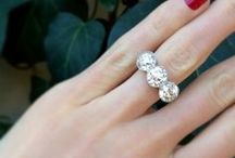 engagement ring selfie / A salute to all the beautiful brides out there sharing their amazing engagement rings.