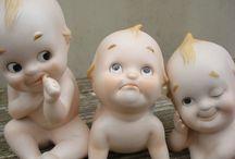 Kewpie doll / Al different kewpie's