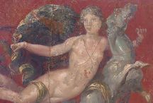 Pompéi and Herculaneum. / Fresco's,Mosaic and Objects.