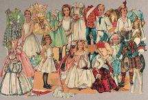 Paper Doll's / Aankleed poppen van papier.