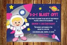 Astronauts and Aliens / Twins' 2nd birthday!!
