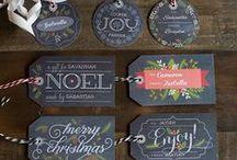 Christmas tags / Tags for christmas gifts.  Etiquettes pour paquet cadeaux Noel