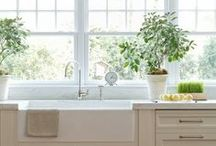 """.Kitchen. / Some """"dream kitchen"""" inspiration to swoon over.  :)"""