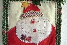 Xmas applique / applicaties t.b.v. Kerstmis
