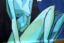 Abstract nudes and figures / Playful, bold and abstracted nudes and figures in art