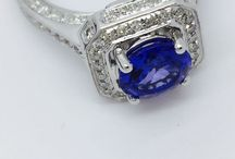 Tanzanite Engagement Ring / Fall in love today with a Natural Tanzanite Diamond Engagement Ring that will truly capture the moment for a lifetime.   Ramzi's Tanzanite, Blue Sapphire and Diamond Collection,