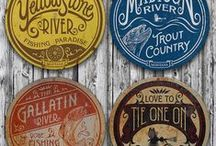 Montana Fly Fishing Wall Signs / Vintage, decorative, metal wall signs celebrating Montana's unique fly fishing rivers and outdoors activities. Shop now!