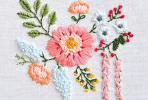 Embroidered Flowers, Trees, Plants and Leaves / Beautiful, timeless embroidery pieces depicting flowers, leaves and trees.