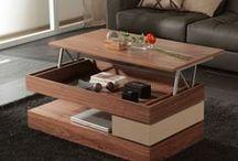 Mesas de centro modernas / Mesas de centro modernas de calidad con diferentes modelos acabados en madera natural o lacados.