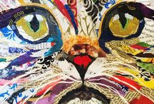 Cats in Art / Art and crafts inspired by felines.