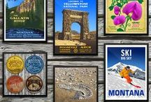 Montana Posters / Vintage, decorative, framed and unframed wall posters celebrating Montana's unique fly fishing lifestyle, rivers, festivals, and outdoors activities.