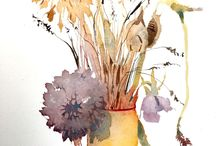 Watercolour Videos / One minute watercolour time lapse video tutorials. Click on YouTube link top left of each pin
