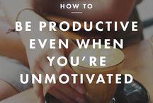 HOW TO BE PRODUCTIVE // COMMENT ÊTRE PRODUCTIF !