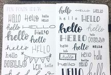 FONTS || CALLIGRAPHY || LETTERING