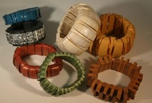 Polymer Bracelets / Bracelets created here with supplies from Polymer Clay Express.  Artist and owner of PCE ~ Wilma Yost.