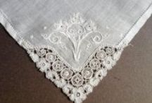 """A Handkerchief for Your Wedding / Historically, the handkerchief has long """"represented the bond between lovers."""" Practical yet mysterious; charming yet sexy; essential for a bride and a groom, the folklore of the hanky is deliciously endless. {I even write about them in my books and articles!} / by Cornelia Powell {Wedding Folklorist}"""