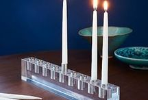 Hanukkah / menorahs and table decor to light the nights with flair