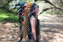 Handmade Native American Headdresses / Indian Warbonnet, Indian Headdress, Native American Headdress