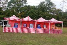 Carnivals / We've got everything you need for a fun filled carnival; from our attractive red and white striped booths to our large assortment of games and prizes.