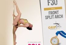 PDY - Diva / Pole dance move: DIVA aka POLE UPSIDE SPLIT aka FRONT SPLIT