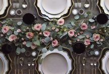 Wedding guest table settings / Wedding guests table design