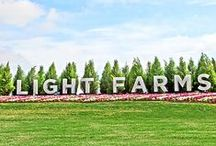 LIGHT FARMS, CELINA TEXAS / A 1,070 acre master-planned community with schools in the acclaimed Prosper Independent School District, Light Farms will change the way you think about communal living in suburbs everywhere. You can't miss this exciting new community. #livinginlightfarms #celinatexasrealestate #celinarealtor